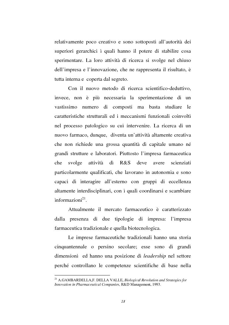 Anteprima della tesi: Le attività di ricerca e sviluppo nel settore delle biotecnologie, Pagina 15