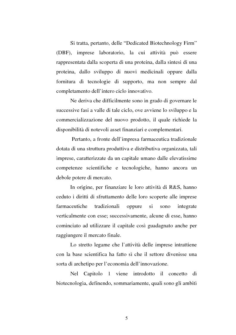 Anteprima della tesi: Le attività di ricerca e sviluppo nel settore delle biotecnologie, Pagina 2