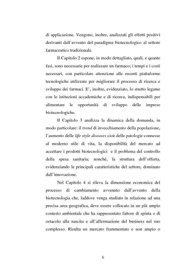 Anteprima della tesi: Le attività di ricerca e sviluppo nel settore delle biotecnologie, Pagina 3