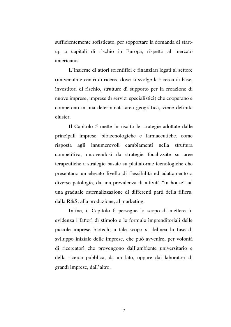 Anteprima della tesi: Le attività di ricerca e sviluppo nel settore delle biotecnologie, Pagina 4