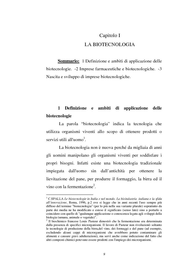 Anteprima della tesi: Le attività di ricerca e sviluppo nel settore delle biotecnologie, Pagina 6