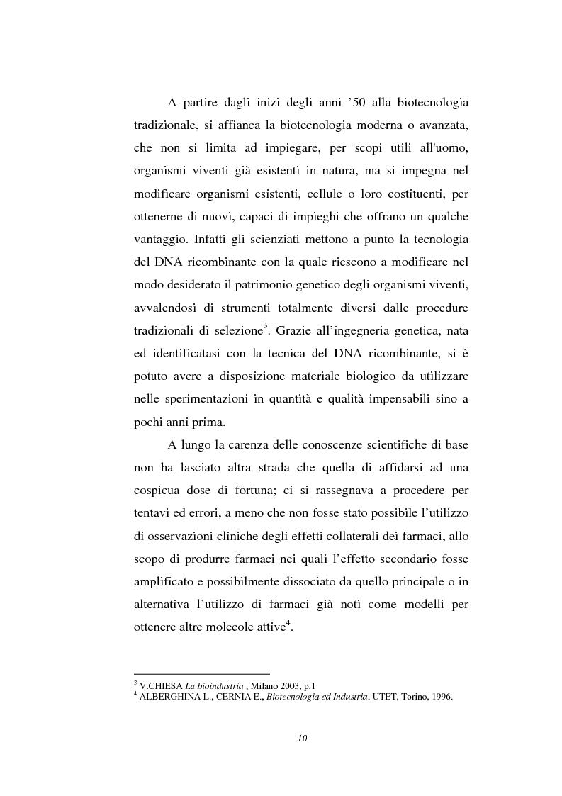 Anteprima della tesi: Le attività di ricerca e sviluppo nel settore delle biotecnologie, Pagina 7