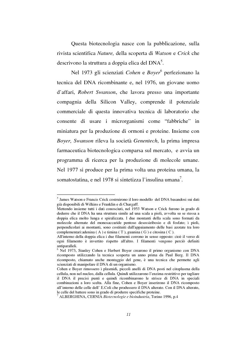Anteprima della tesi: Le attività di ricerca e sviluppo nel settore delle biotecnologie, Pagina 8