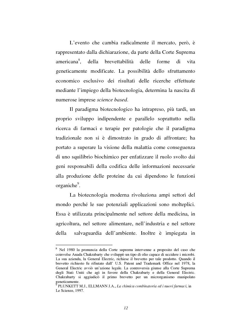 Anteprima della tesi: Le attività di ricerca e sviluppo nel settore delle biotecnologie, Pagina 9