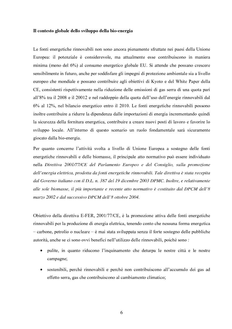 Anteprima della tesi: Potenzialità dei biocombustibili solidi nelle province italiane, Pagina 4