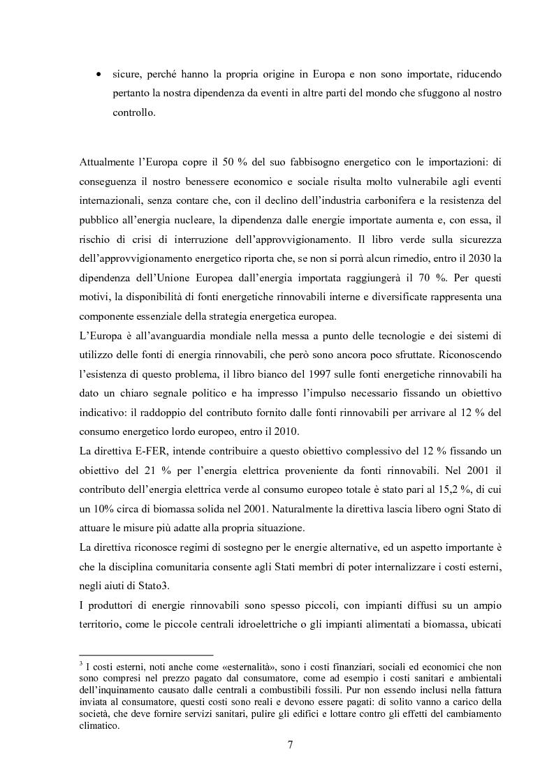 Anteprima della tesi: Potenzialità dei biocombustibili solidi nelle province italiane, Pagina 5