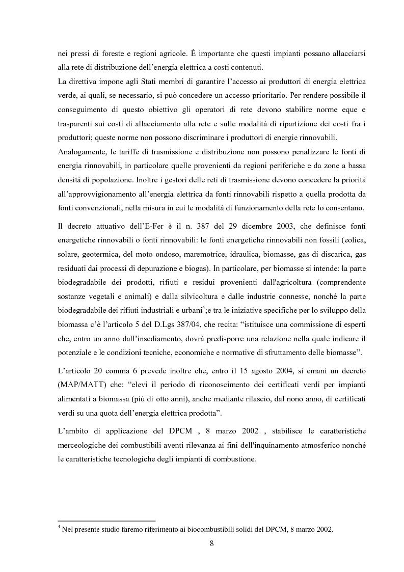 Anteprima della tesi: Potenzialità dei biocombustibili solidi nelle province italiane, Pagina 6