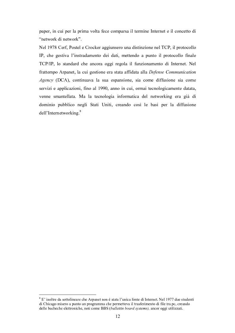 Anteprima della tesi: La diffusione di Internet in Cina: peculiarità e caratteristiche del controllo governativo all'uso di Internet, Pagina 12