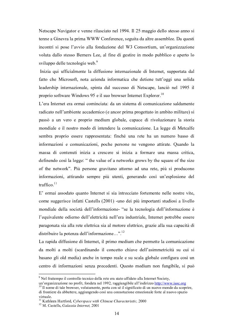 Anteprima della tesi: La diffusione di Internet in Cina: peculiarità e caratteristiche del controllo governativo all'uso di Internet, Pagina 14