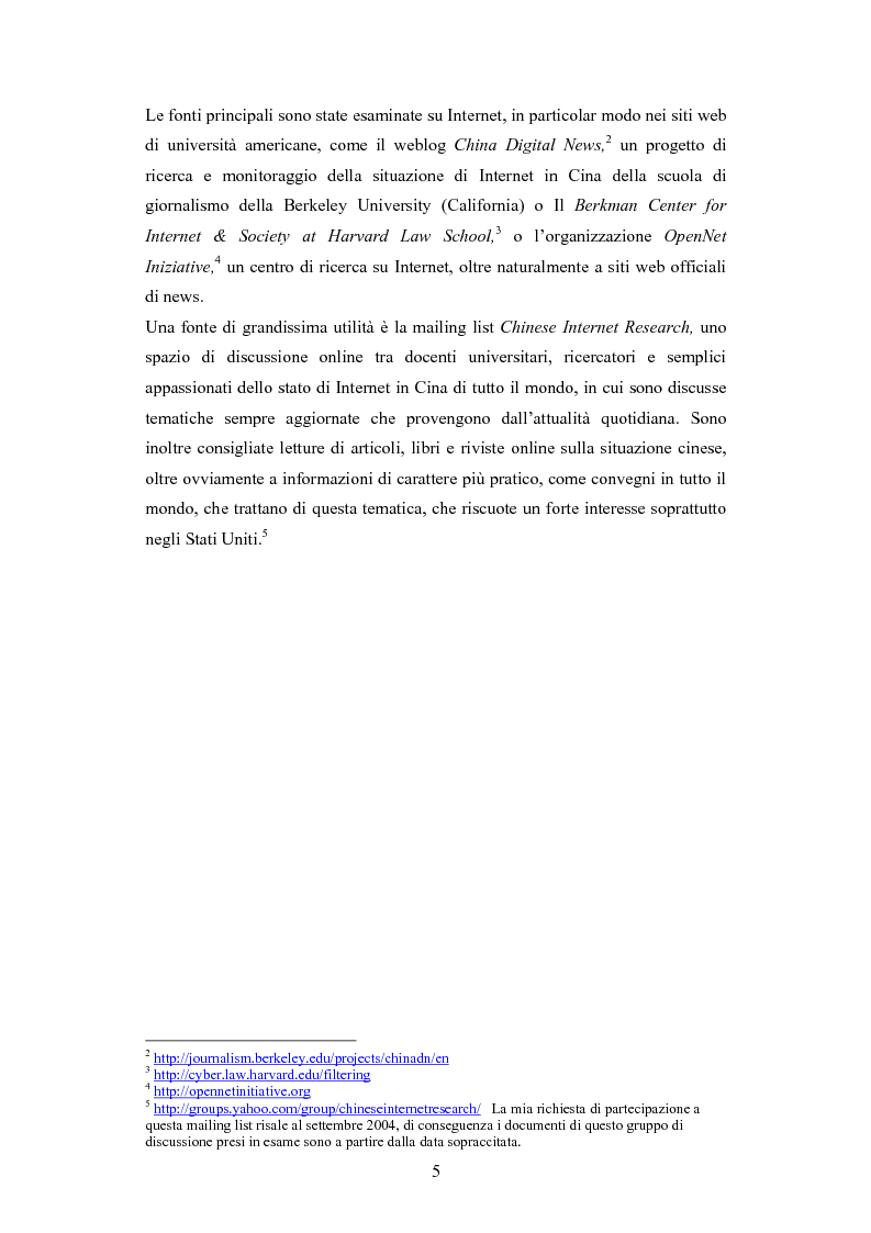 Anteprima della tesi: La diffusione di Internet in Cina: peculiarità e caratteristiche del controllo governativo all'uso di Internet, Pagina 5