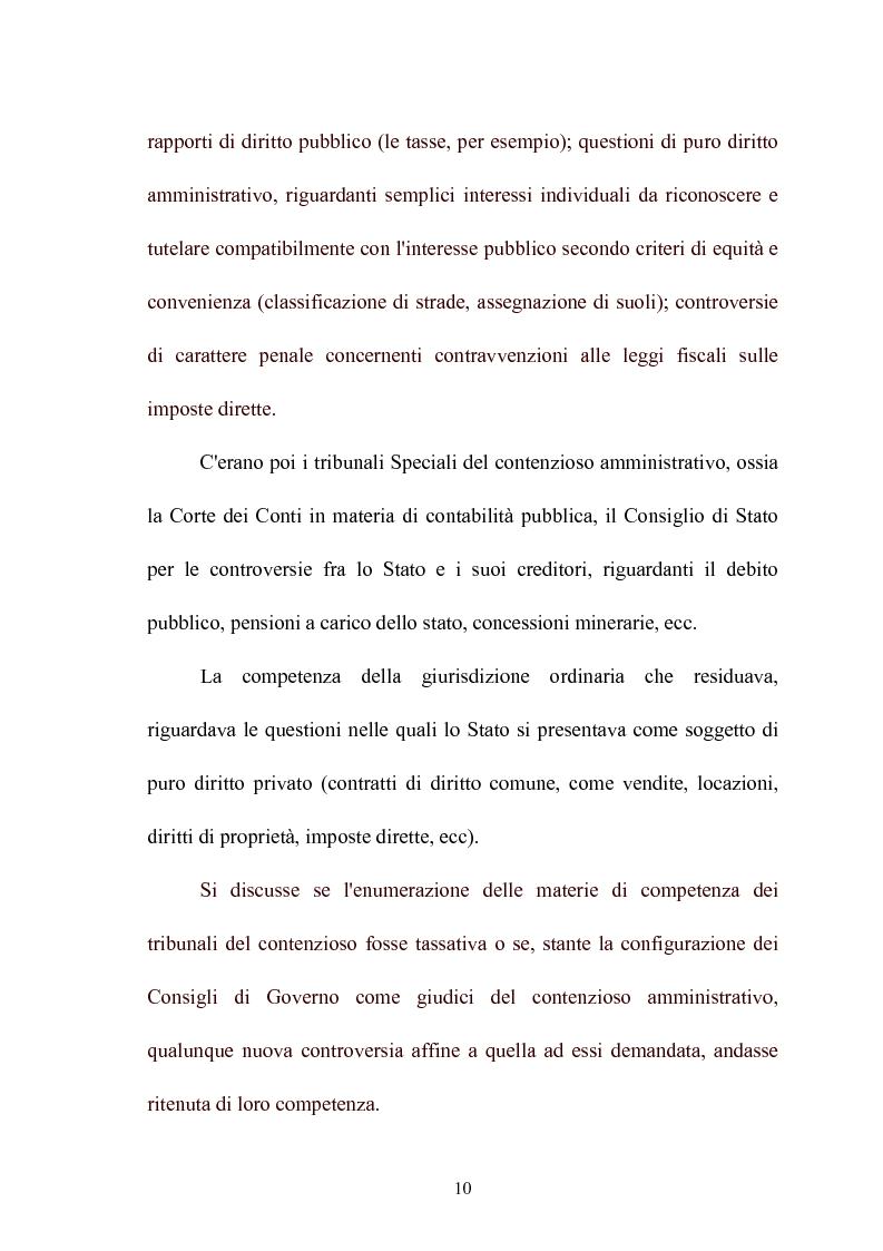 Anteprima della tesi: Modelli di giurisdizione amministrativa in Italia e nei paesi dell'Unione Europea, Pagina 12