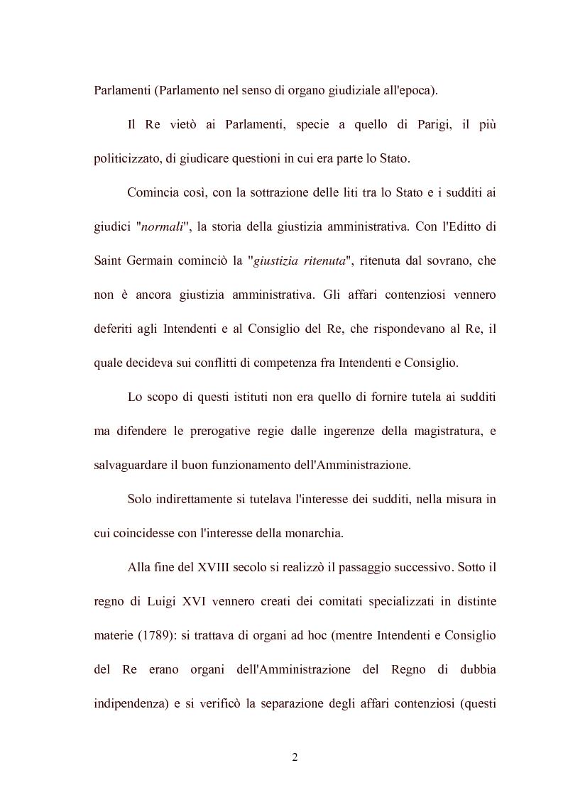 Anteprima della tesi: Modelli di giurisdizione amministrativa in Italia e nei paesi dell'Unione Europea, Pagina 4