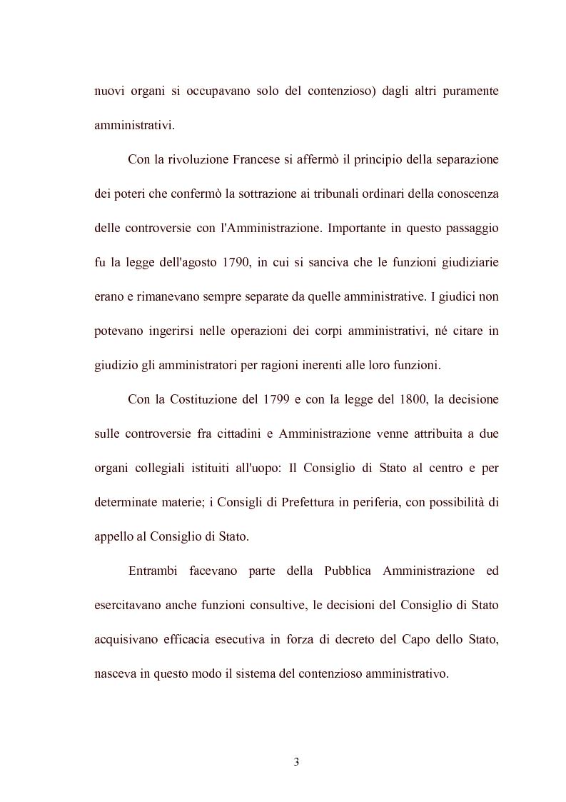 Anteprima della tesi: Modelli di giurisdizione amministrativa in Italia e nei paesi dell'Unione Europea, Pagina 5