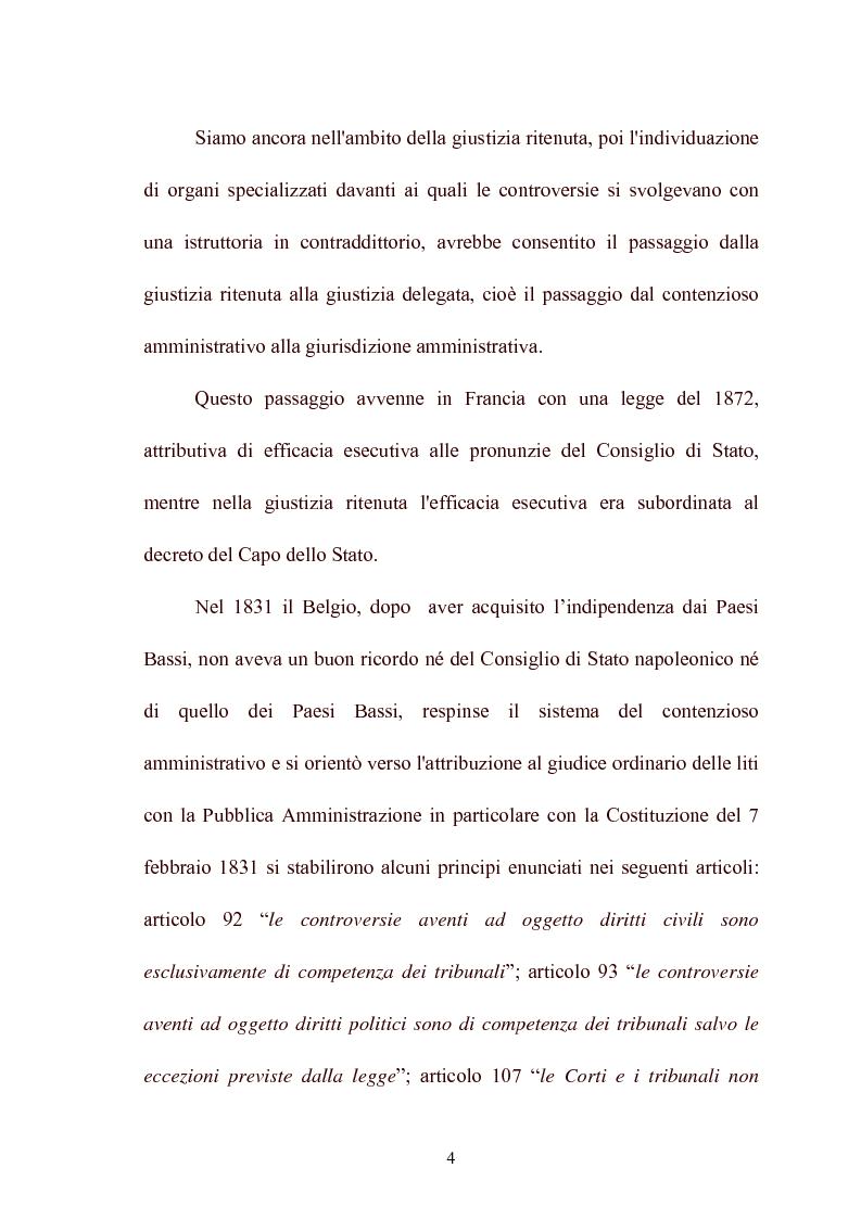 Anteprima della tesi: Modelli di giurisdizione amministrativa in Italia e nei paesi dell'Unione Europea, Pagina 6