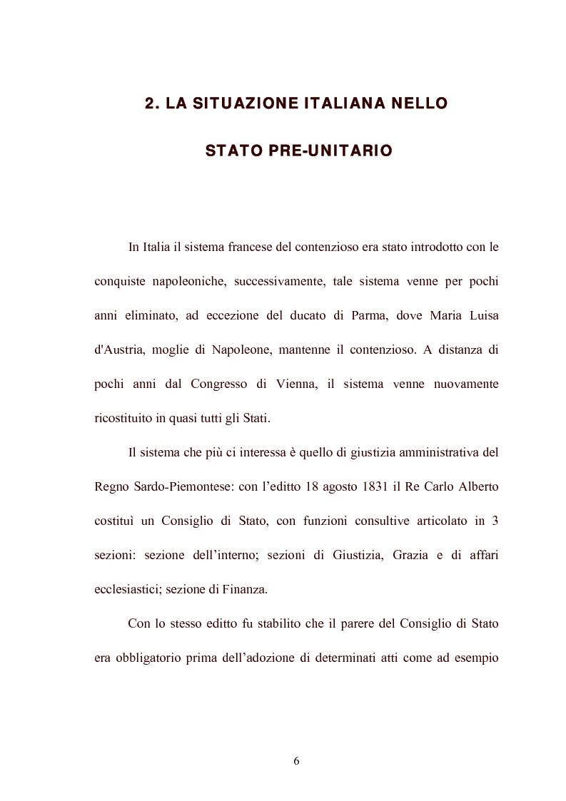 Anteprima della tesi: Modelli di giurisdizione amministrativa in Italia e nei paesi dell'Unione Europea, Pagina 8