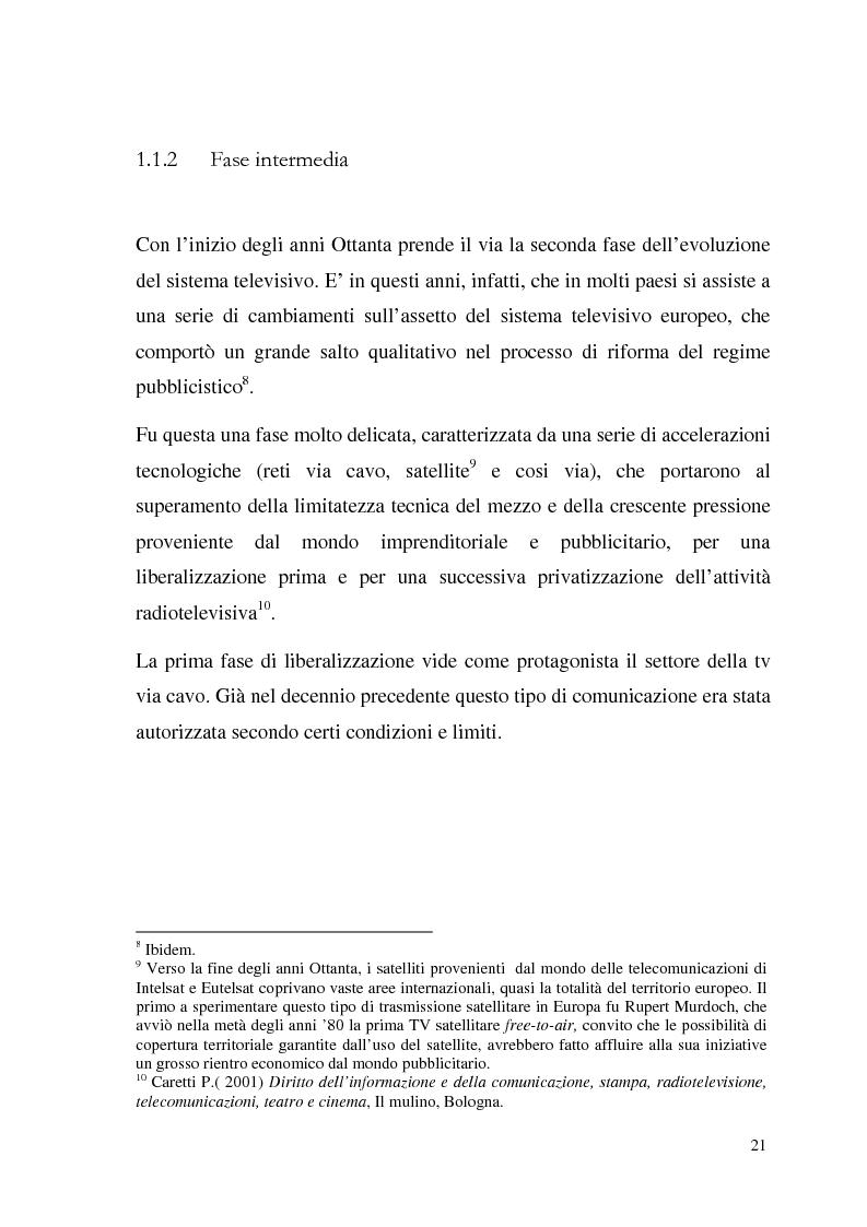 Anteprima della tesi: La Tv digitale come personal medium. Rai Click, la prima Tv on Demand in Italia., Pagina 15