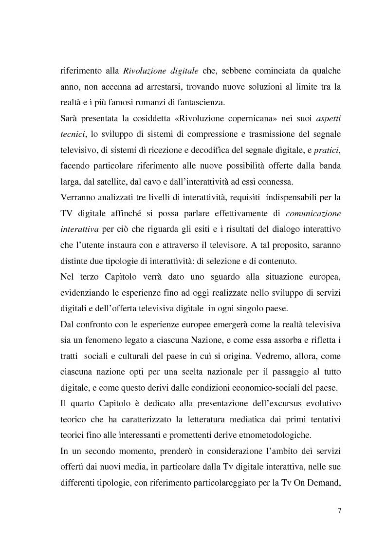 Anteprima della tesi: La Tv digitale come personal medium. Rai Click, la prima Tv on Demand in Italia., Pagina 3