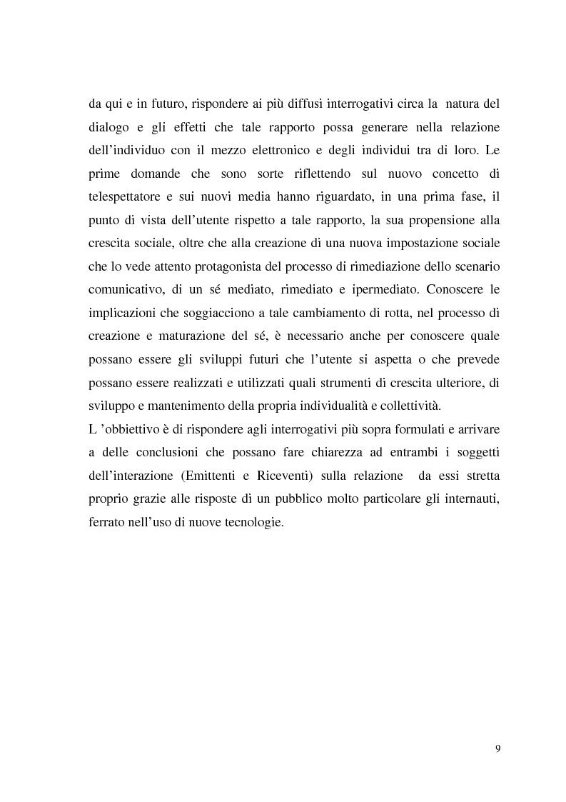 Anteprima della tesi: La Tv digitale come personal medium. Rai Click, la prima Tv on Demand in Italia., Pagina 5