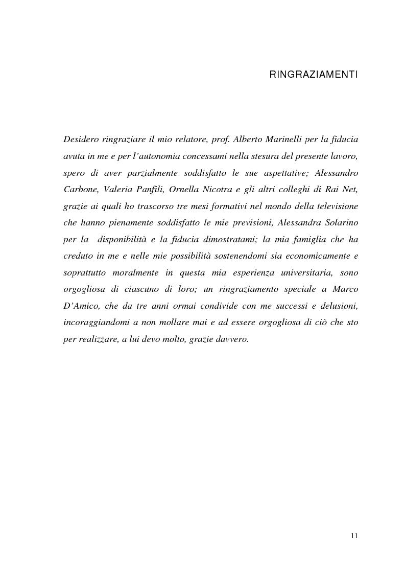 Anteprima della tesi: La Tv digitale come personal medium. Rai Click, la prima Tv on Demand in Italia., Pagina 6