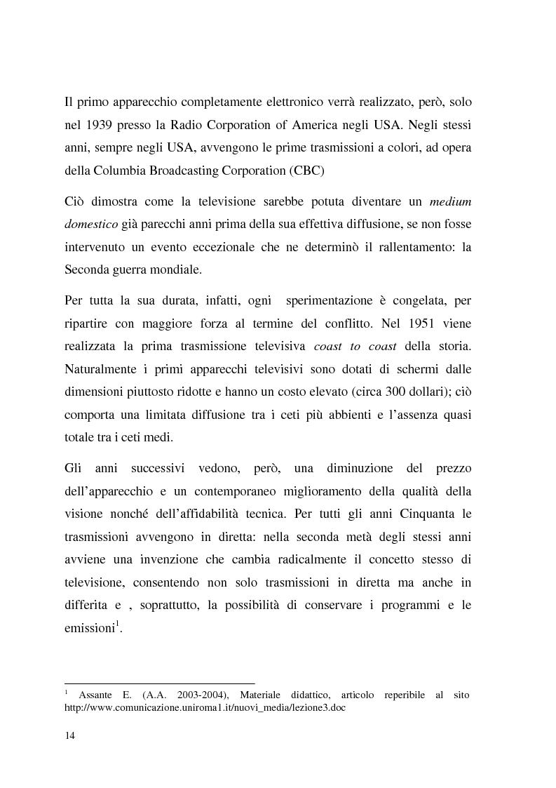 Anteprima della tesi: La Tv digitale come personal medium. Rai Click, la prima Tv on Demand in Italia., Pagina 8