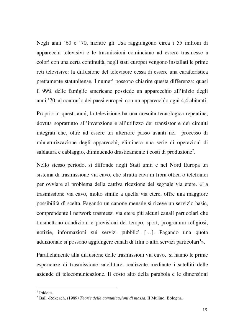 Anteprima della tesi: La Tv digitale come personal medium. Rai Click, la prima Tv on Demand in Italia., Pagina 9