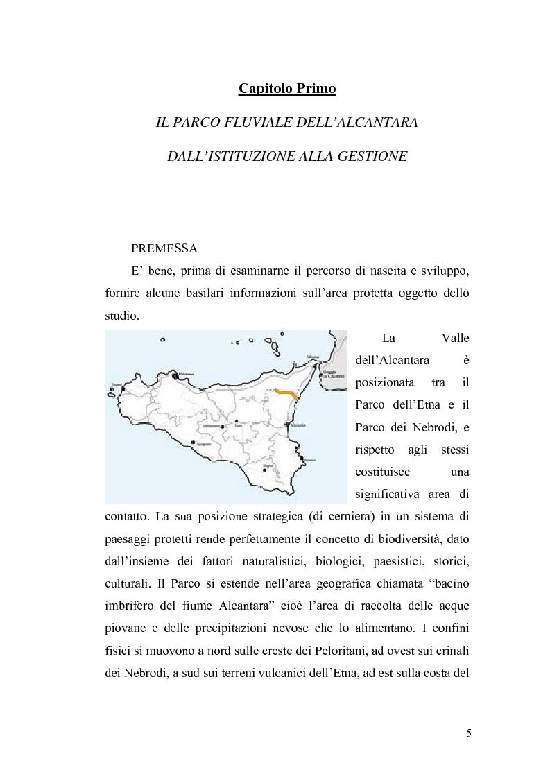 Anteprima della tesi: Aspetti economici e strutturali del Parco Fluviale dell'Alcantara, Pagina 3