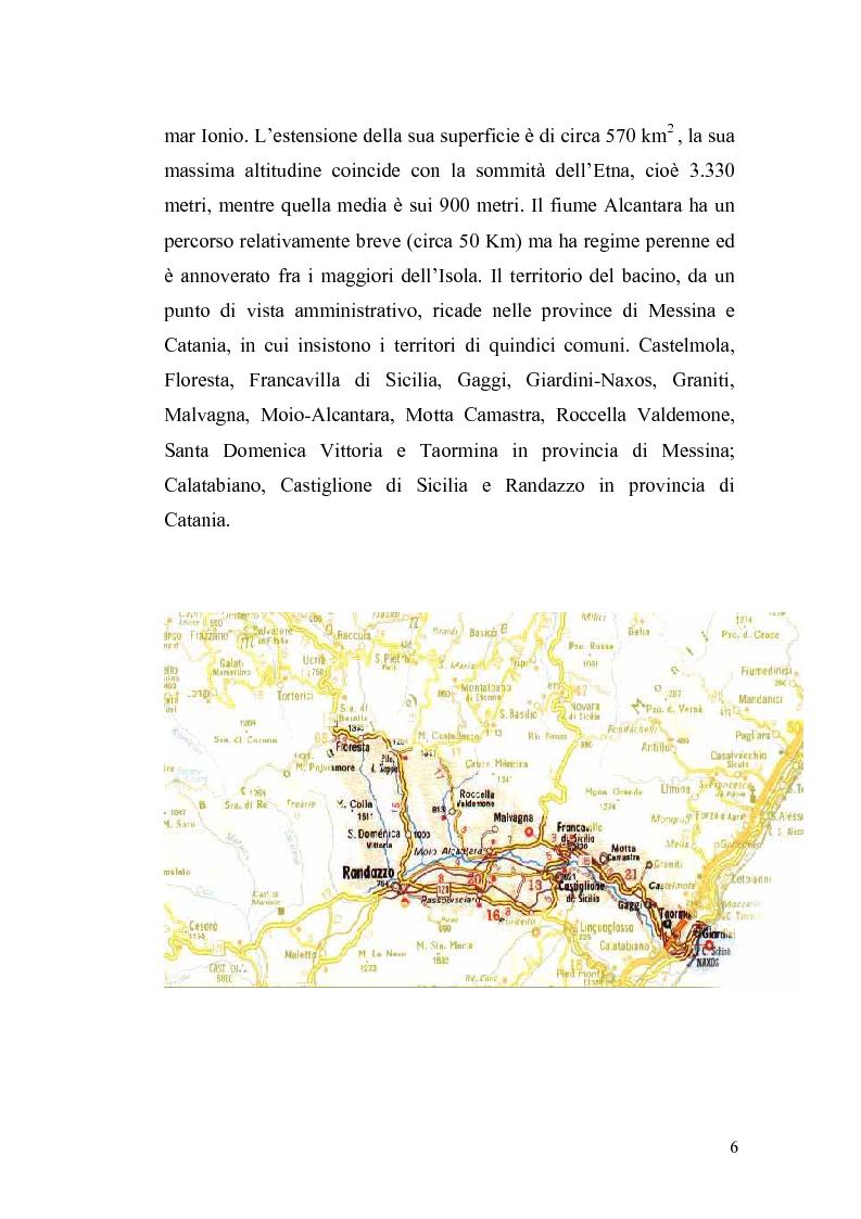 Anteprima della tesi: Aspetti economici e strutturali del Parco Fluviale dell'Alcantara, Pagina 4