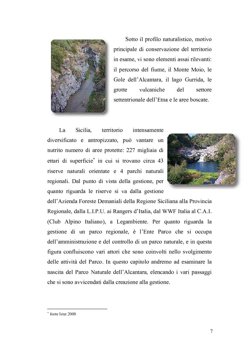 Anteprima della tesi: Aspetti economici e strutturali del Parco Fluviale dell'Alcantara, Pagina 5