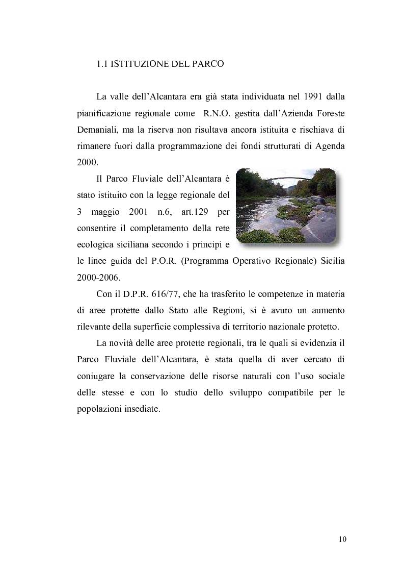 Anteprima della tesi: Aspetti economici e strutturali del Parco Fluviale dell'Alcantara, Pagina 8
