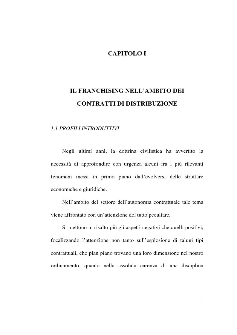 Anteprima della tesi: Intese restrittive della concorrenza e accordi di distribuzione selettiva, Pagina 1