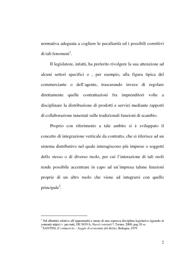 Anteprima della tesi: Intese restrittive della concorrenza e accordi di distribuzione selettiva, Pagina 2