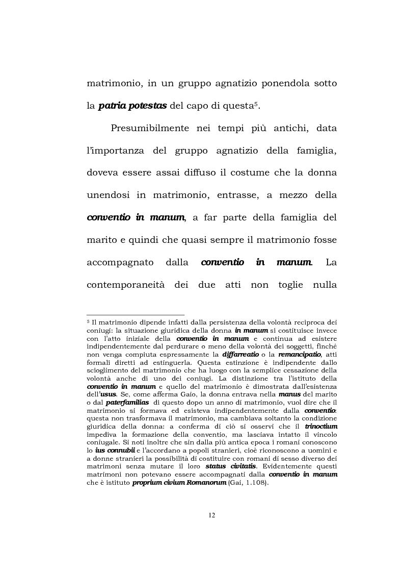 Anteprima della tesi: Il matrimonio romano, Pagina 10