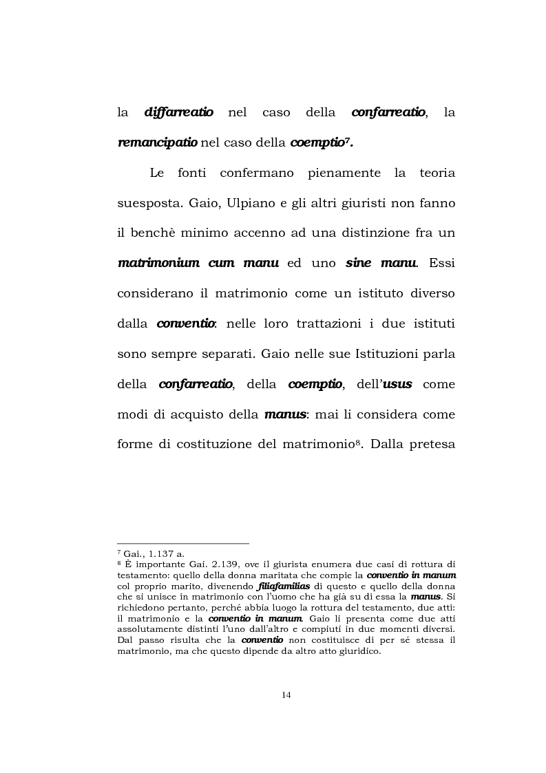 Anteprima della tesi: Il matrimonio romano, Pagina 12