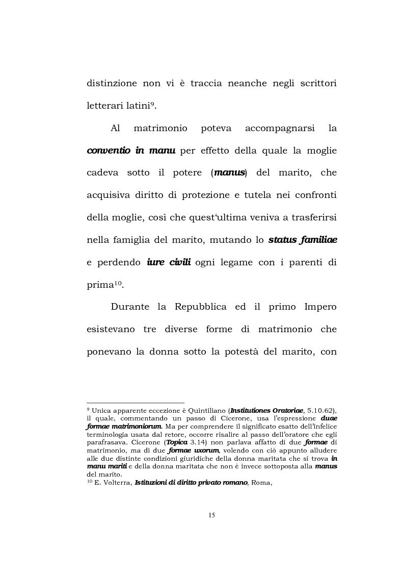 Anteprima della tesi: Il matrimonio romano, Pagina 13