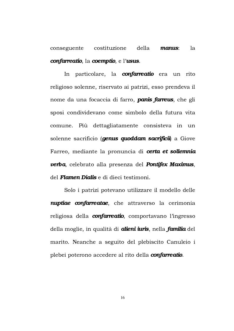 Anteprima della tesi: Il matrimonio romano, Pagina 14