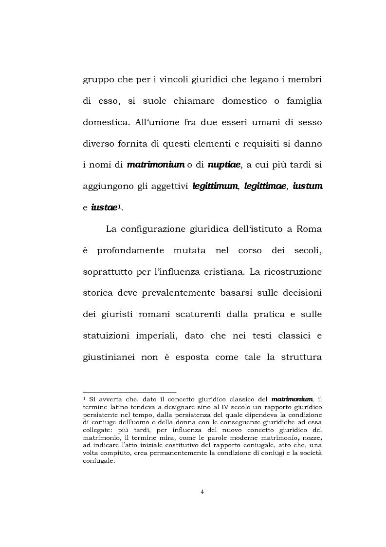 Anteprima della tesi: Il matrimonio romano, Pagina 2