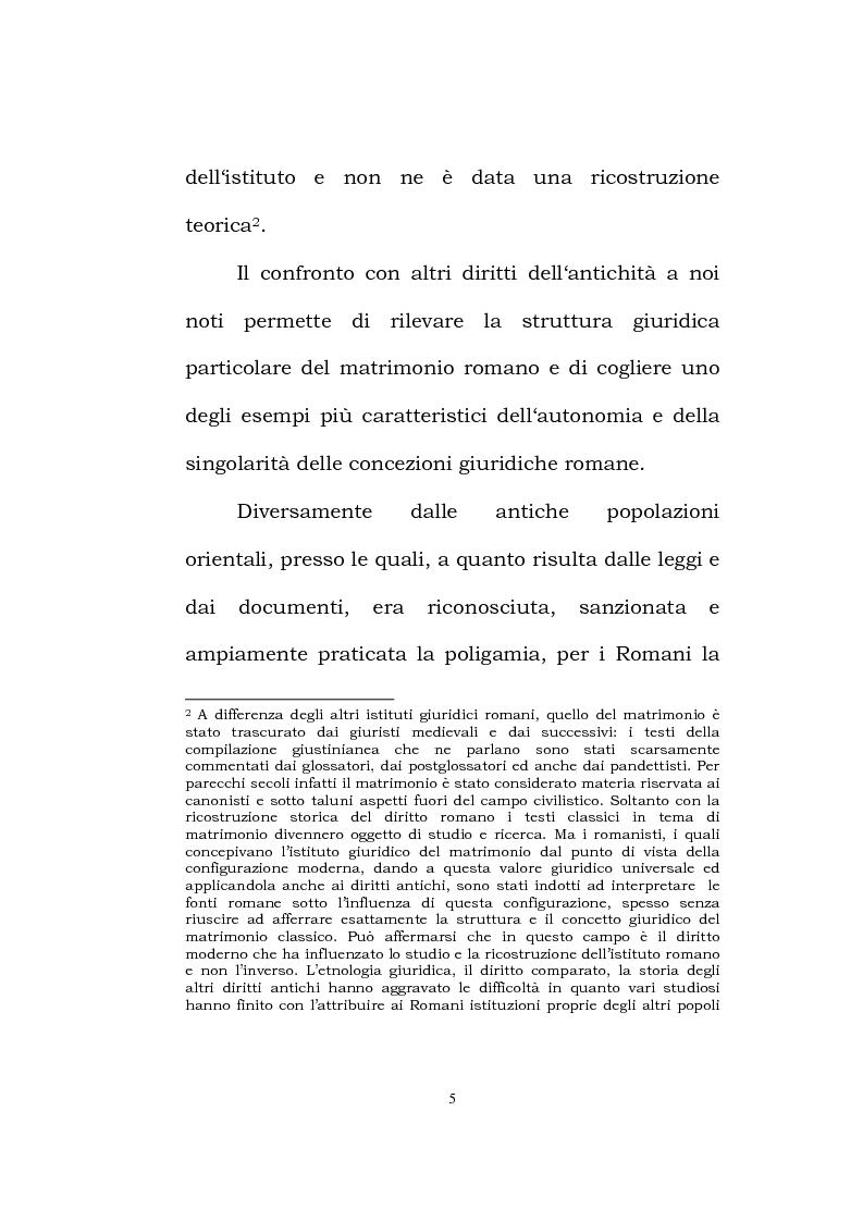 Anteprima della tesi: Il matrimonio romano, Pagina 3