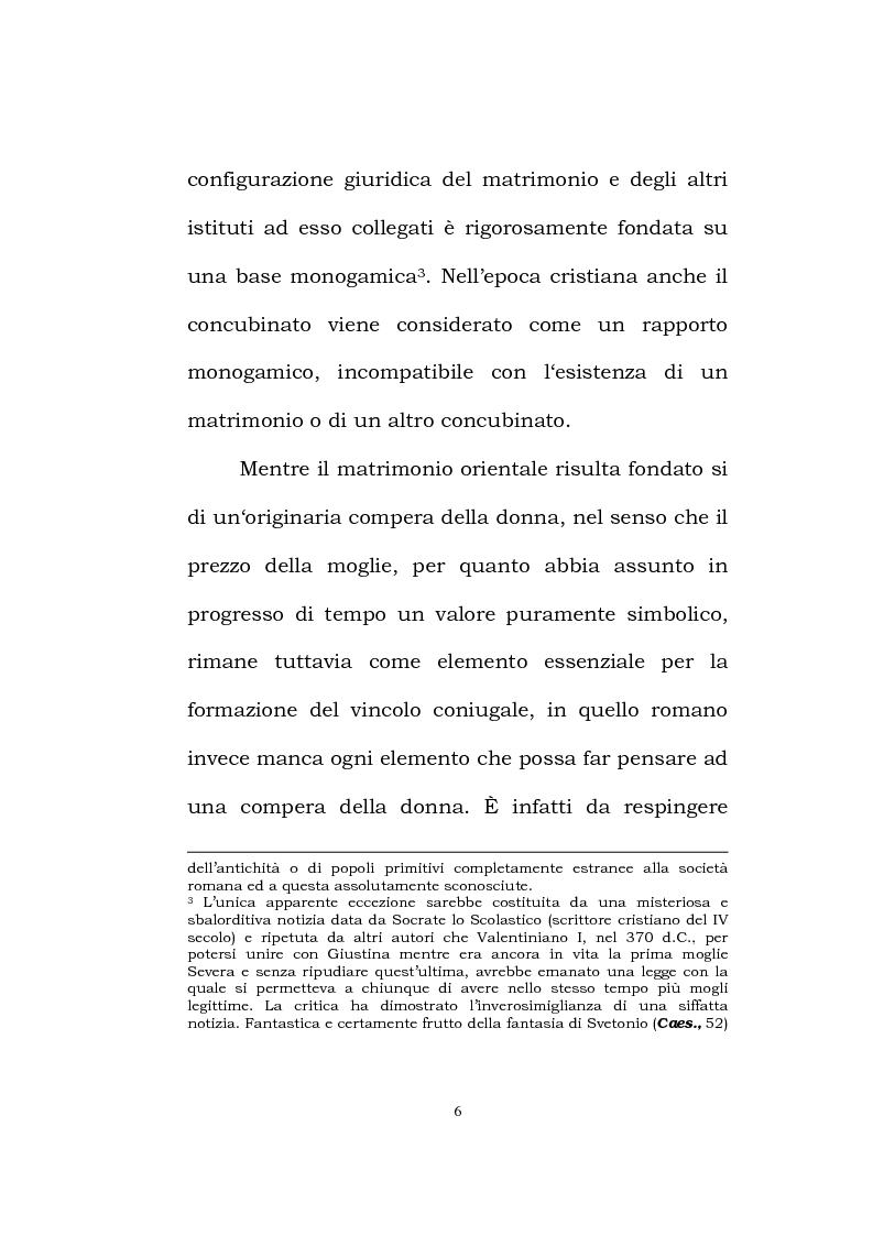 Anteprima della tesi: Il matrimonio romano, Pagina 4