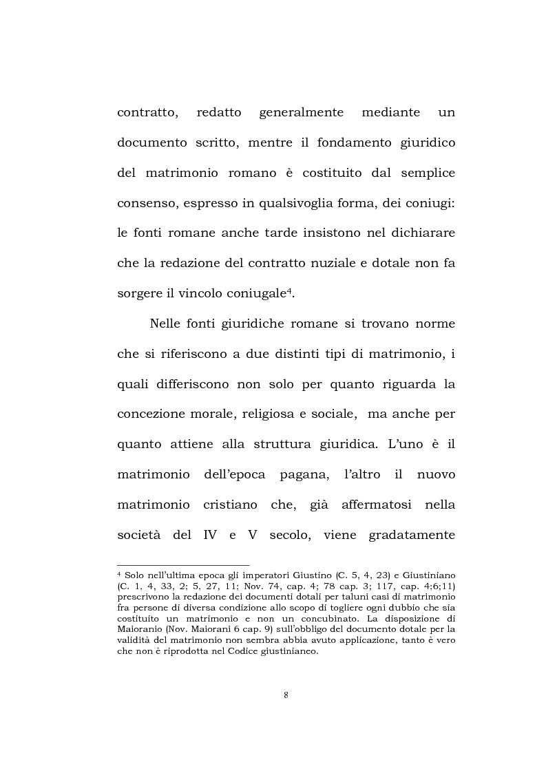 Anteprima della tesi: Il matrimonio romano, Pagina 6