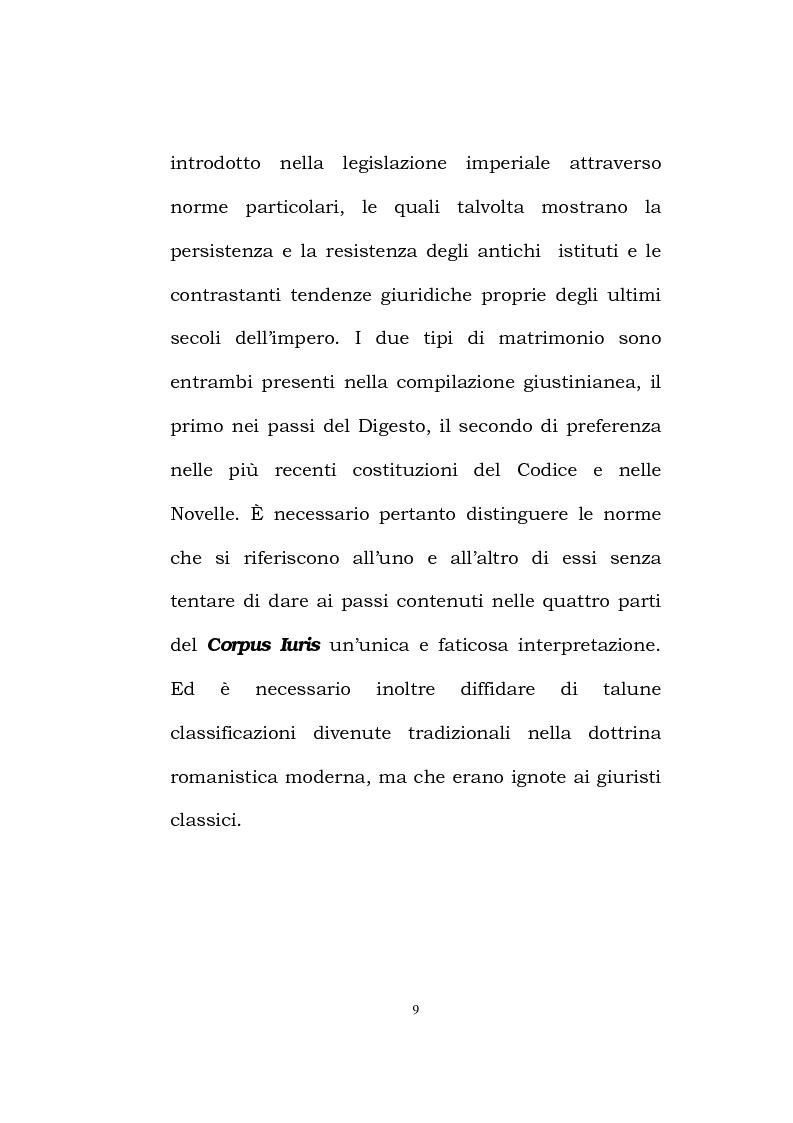 Anteprima della tesi: Il matrimonio romano, Pagina 7