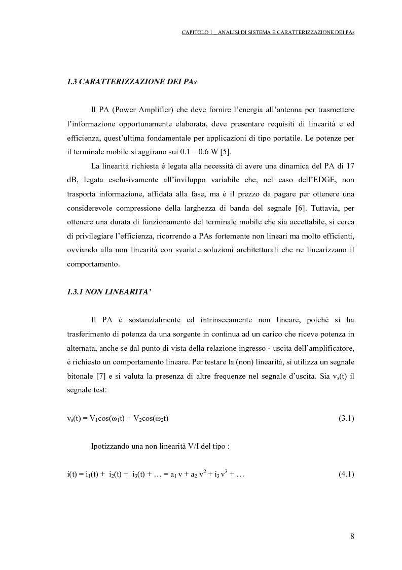 Anteprima della tesi: Progetto di PAs SWITCHING-MODE per applicazioni lineari alla telefonia cellulare 3G, Pagina 12