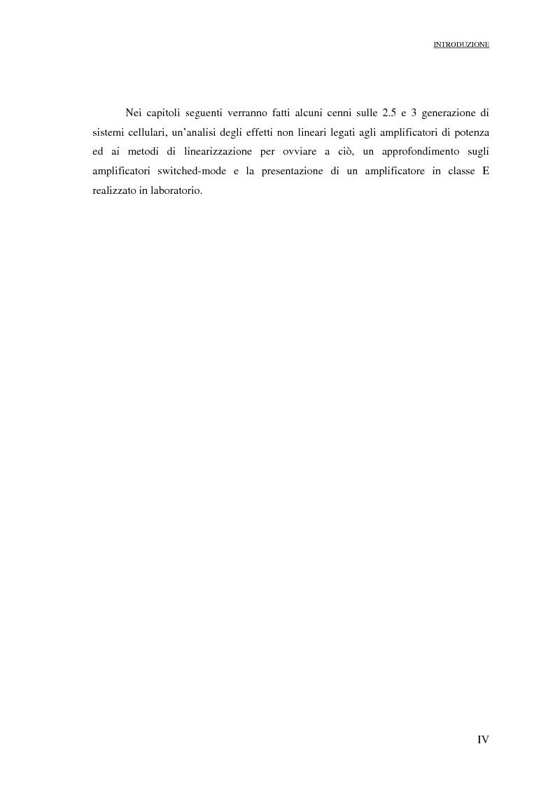 Anteprima della tesi: Progetto di PAs SWITCHING-MODE per applicazioni lineari alla telefonia cellulare 3G, Pagina 4