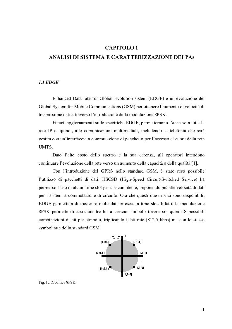 Anteprima della tesi: Progetto di PAs SWITCHING-MODE per applicazioni lineari alla telefonia cellulare 3G, Pagina 5