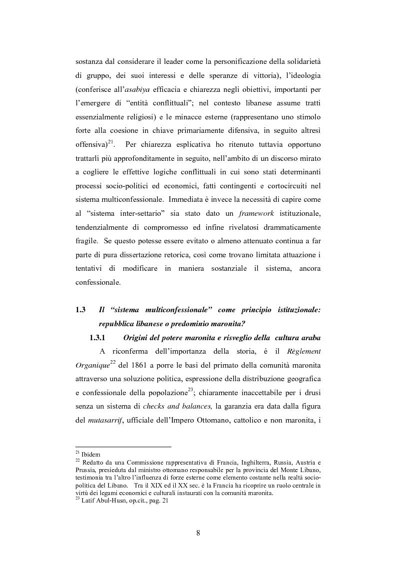 Anteprima della tesi: L'intervento della Forza Multinazionale in Libano nel 1982, Pagina 14