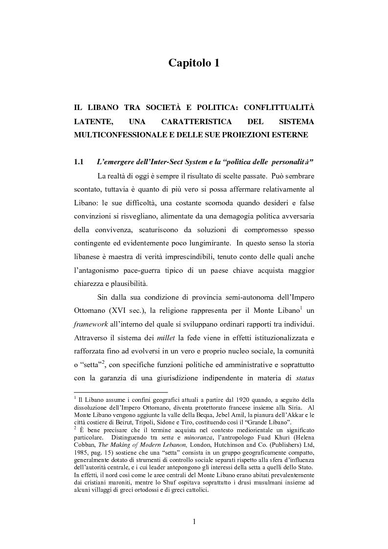Anteprima della tesi: L'intervento della Forza Multinazionale in Libano nel 1982, Pagina 7