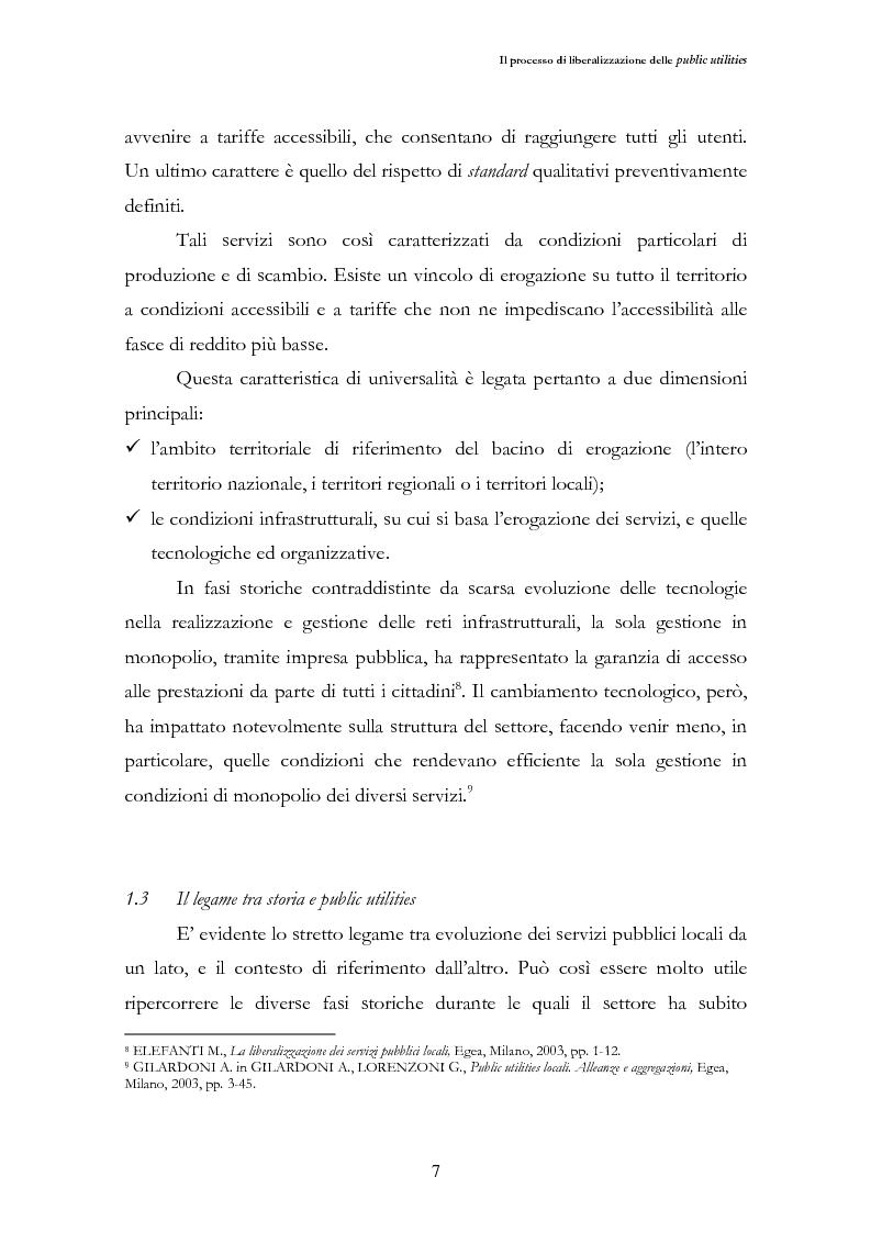 Anteprima della tesi: La liberalizzazione del settore delle utilities. Opportunità o nuova minaccia per la Regione Campania?, Pagina 10