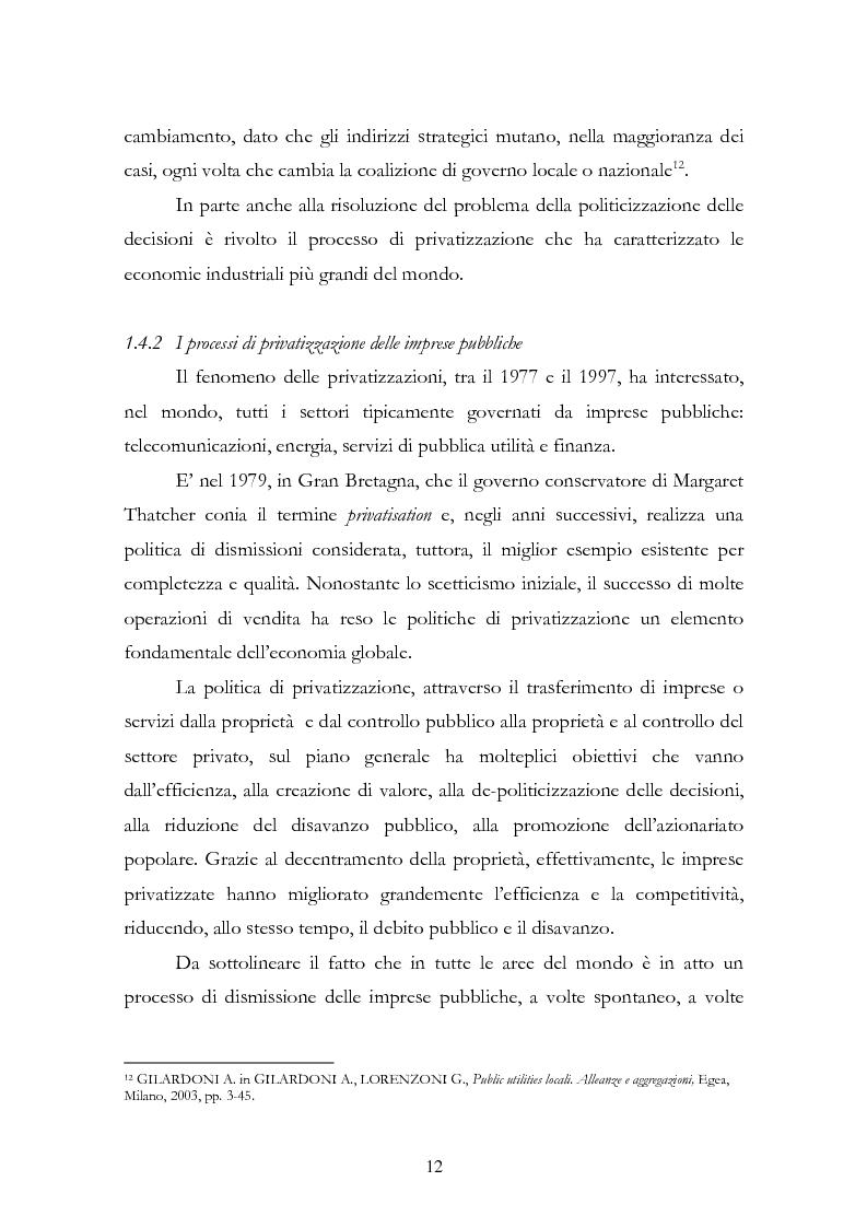 Anteprima della tesi: La liberalizzazione del settore delle utilities. Opportunità o nuova minaccia per la Regione Campania?, Pagina 15