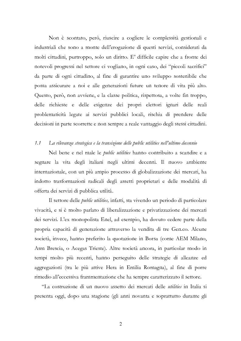 Anteprima della tesi: La liberalizzazione del settore delle utilities. Opportunità o nuova minaccia per la Regione Campania?, Pagina 5