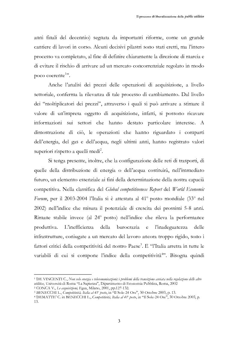 Anteprima della tesi: La liberalizzazione del settore delle utilities. Opportunità o nuova minaccia per la Regione Campania?, Pagina 6