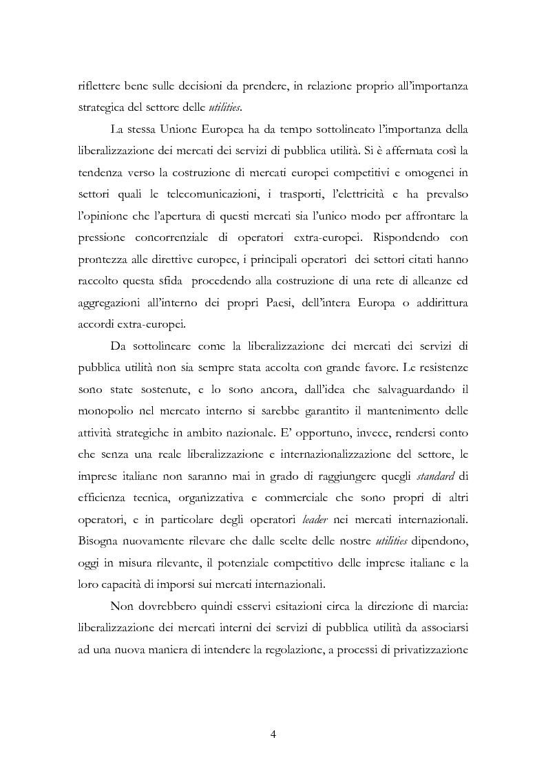 Anteprima della tesi: La liberalizzazione del settore delle utilities. Opportunità o nuova minaccia per la Regione Campania?, Pagina 7